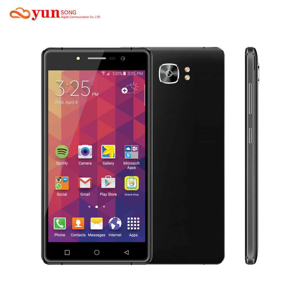 Original yunsong mtk6580a ys16 5.0 pulgadas de pantalla del teléfono móvil 8.0mp