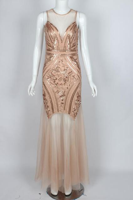 maxi long chic casual beach party elegant tall floor length gold  sleeveless gatsby tank sequins desainer dress for woman 2018