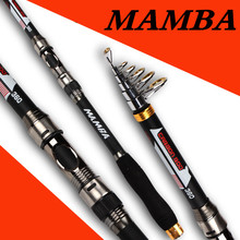 Best price Carbon Fiber 2.1M 2.4M 2.7M 3.0M 3.6M Portable Telescopic Fishing Rod Spinning Hand Fishing Tackle Sea Rod Fishing Travel Pole