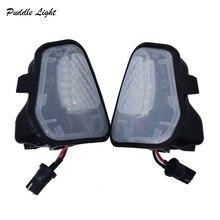 2x  LED Side Mirror Puddle Lights Lamp No Error for Vw Volkswagen EOS Passat B7 CC Scirocco Jetta