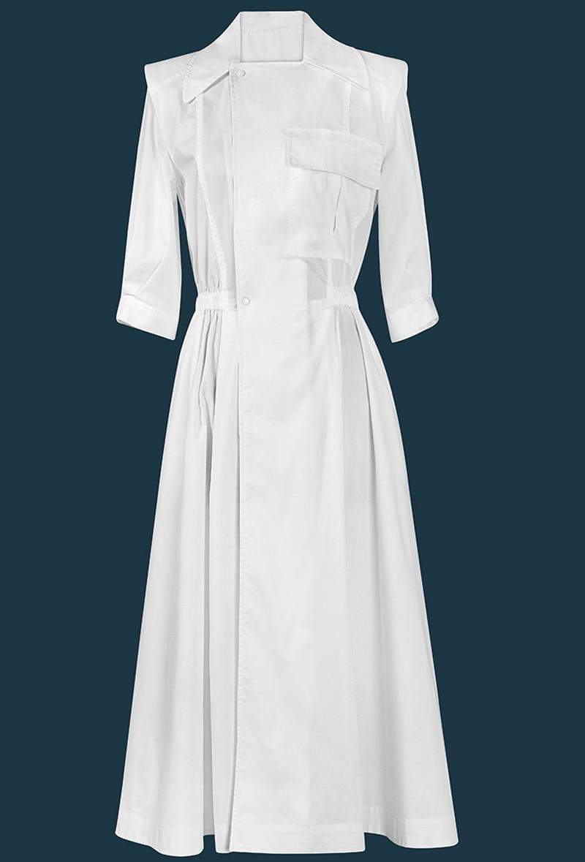 Conception Simple nouvelle marque 2019 robes d'été col cranté à manches courtes Simple boutonnage blanc robes décontracté robes de bureau Z1645-in Robes from Mode Femme et Accessoires    1