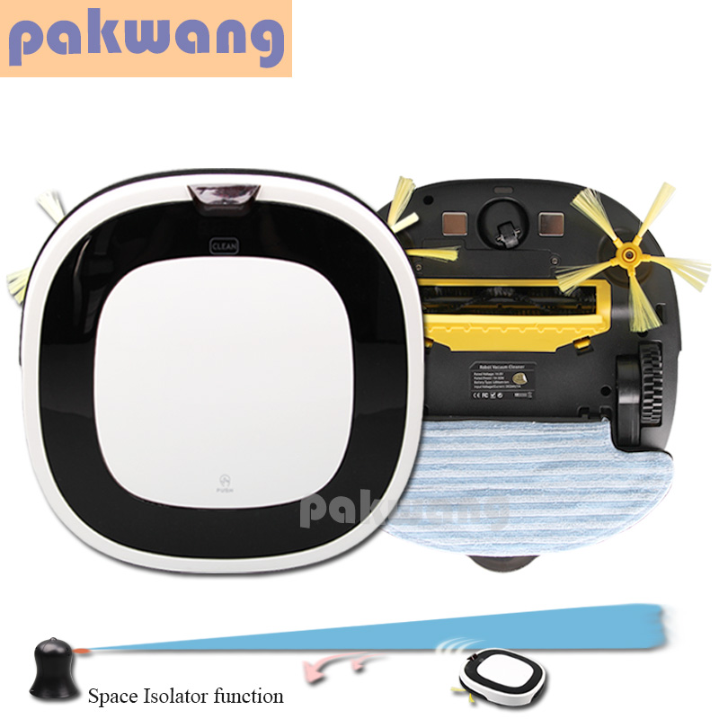 PAKWANG D5501 advanced vacuum robot cleaner big mop auto recharge robot vaccum cleaner wet and dry cleaning floor washing robot 12pcs lot high quality robot vacuum cleaner wet mop hobot168 188 window clean mop cloth weeper vacuum cleaner parts