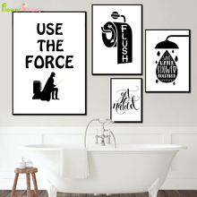 Washroom Lavatory Nordic Poster Toilet WC Wall Art Canvas Painting Lav Bathroom Pictures For Living Room Restroom Unframed