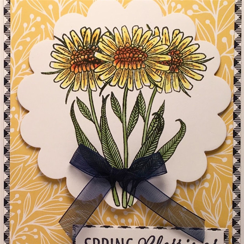 Eastshape Flower Daisy Stamps Dies Scrapbooking Floral for DIY Craft Cuts Cards Making Crafts Clear Stamps 2019 New Arrival in Cutting Dies from Home Garden