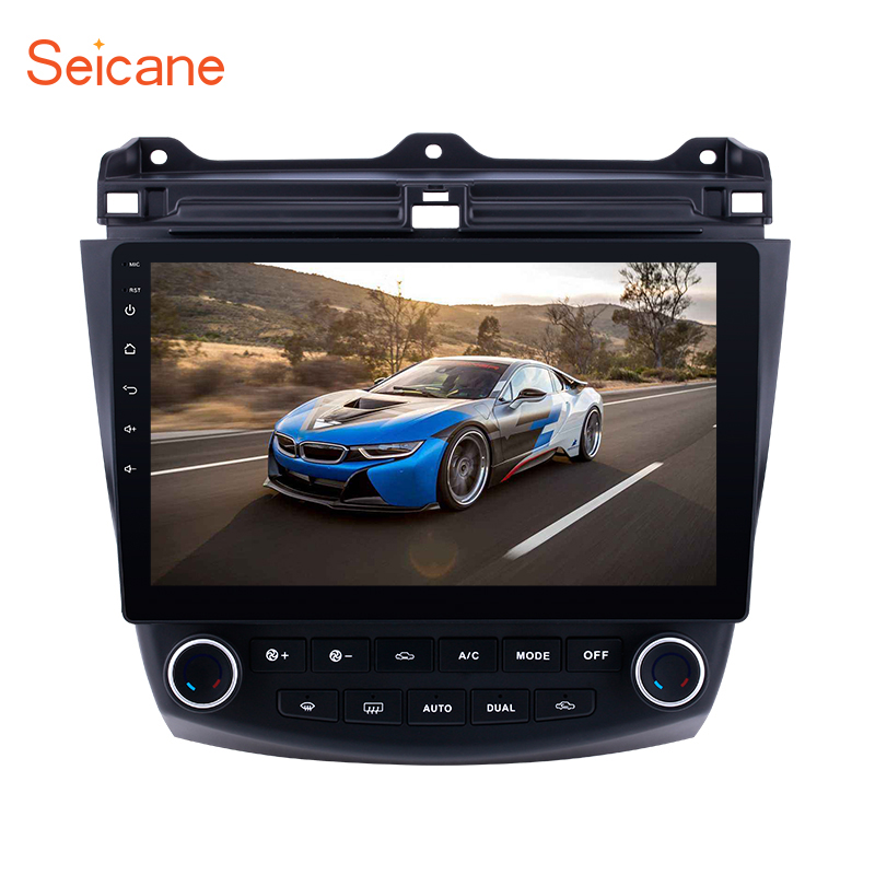 Seicane Car Radio 10.1 inch Android 8.1/7.1 <font><b>Stereo</b></font> For <font><b>2003</b></font> 2004-2006 2007 <font><b>Honda</b></font> <font><b>Accord</b></font> 7 2Din GPS Head Unit Multimedia Player image