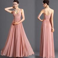 2016 New Summer Chiffon Dress Maxi Dress Bridemaid Vestidos Elegant Women Evening Party Dresses S M