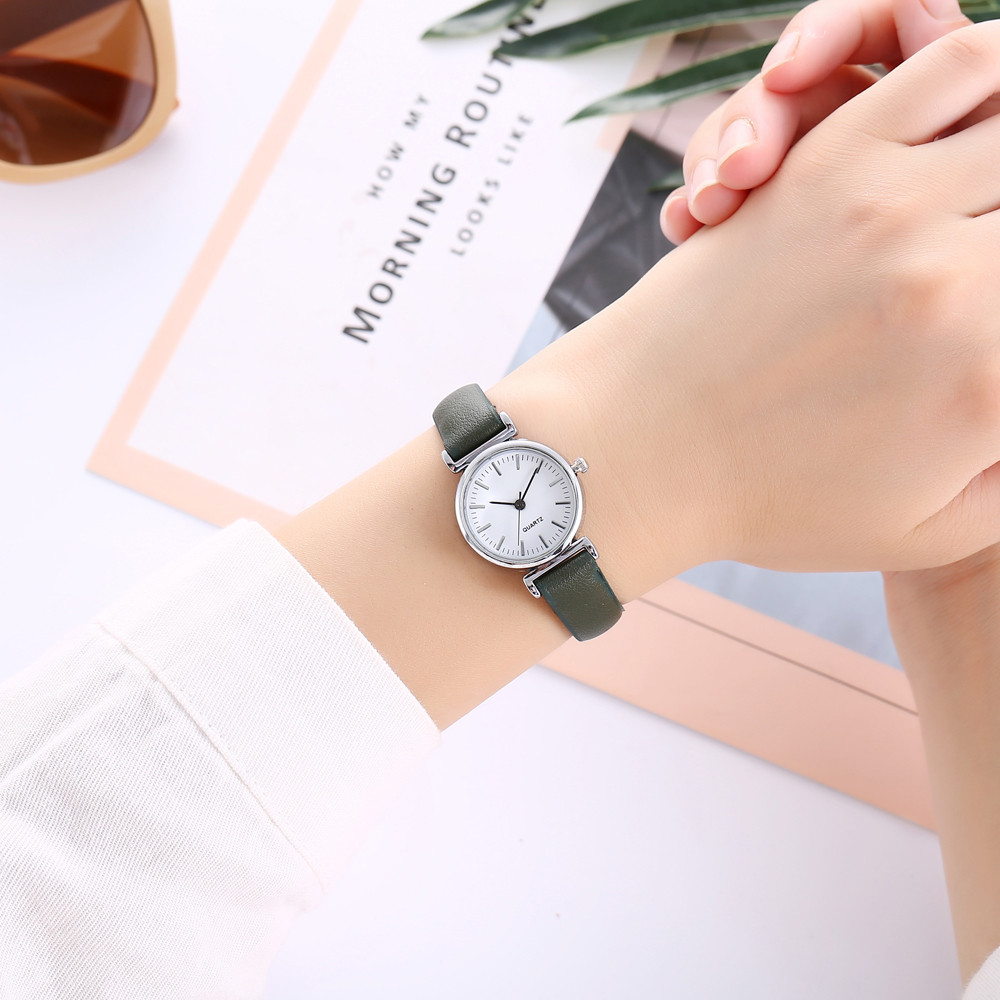 Drop Shipping vansvar Women's Casual Quartz Leather Band New Strap Watch Analog Wrist Watches Bracelet Gifts Free Shipping c925