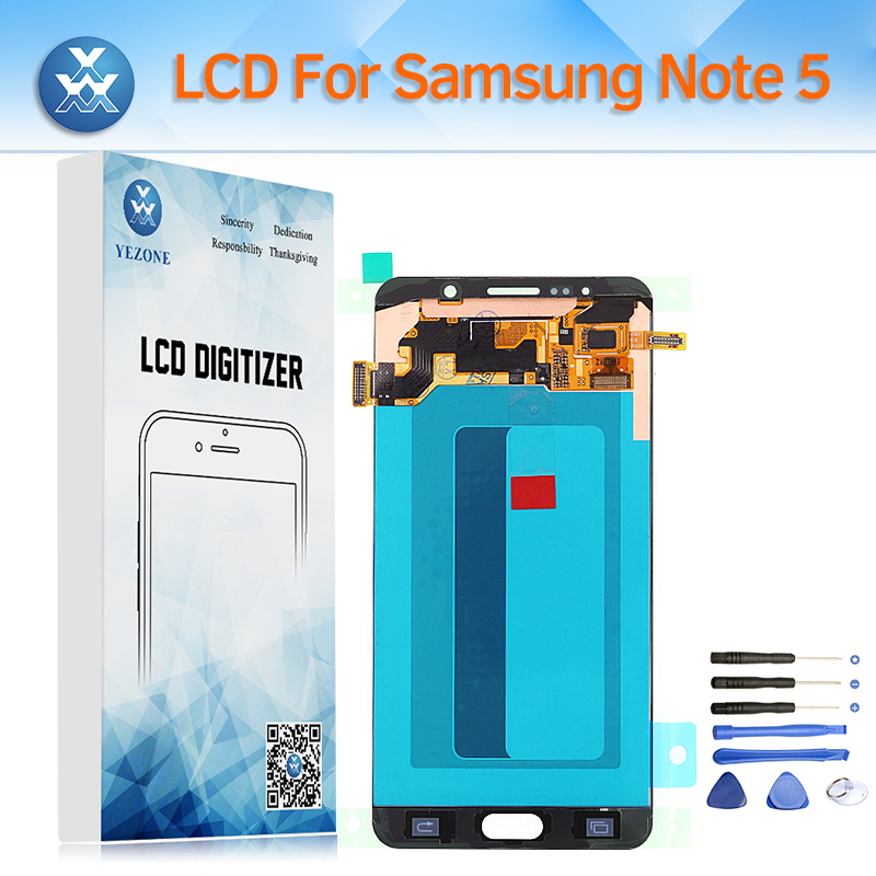 Super AMOLED LCD Screen for Samsung Galaxy Note 5 Note5 N920 N920A N920V N920F N920P N920T LCD Display Touch Digitizer Assembly