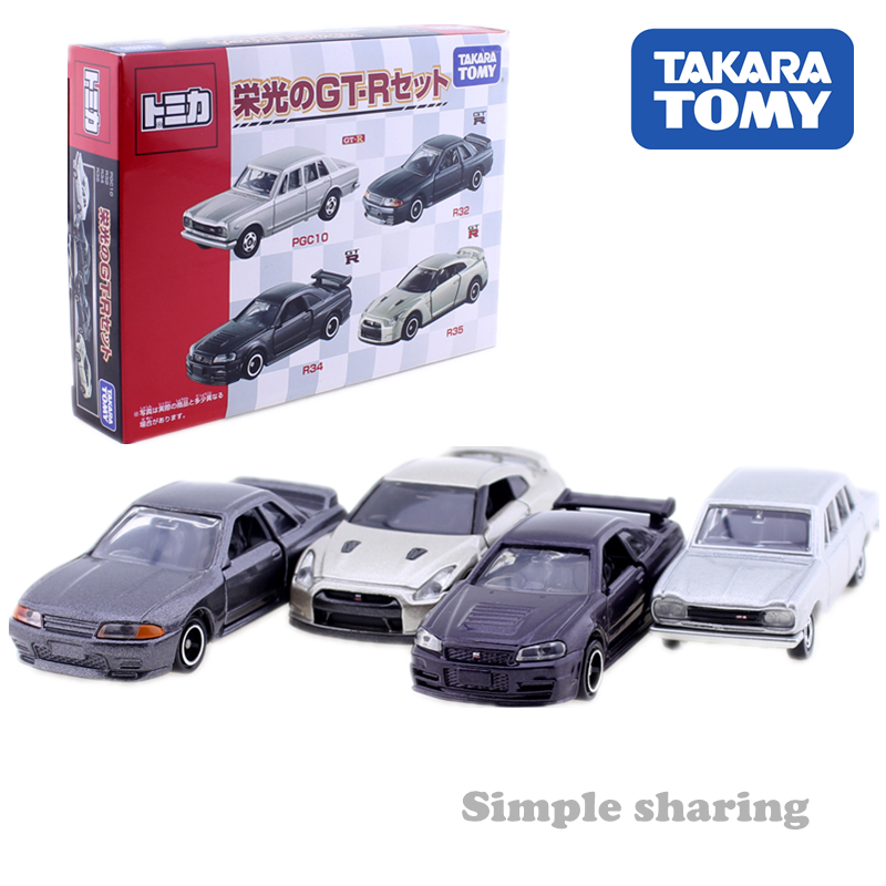 Tomica Nissan series GT R 45th anniversary diecast PGC10 R32 R34 R35 takara tomy AUTO CAR Motors vehicle Diecast metal model