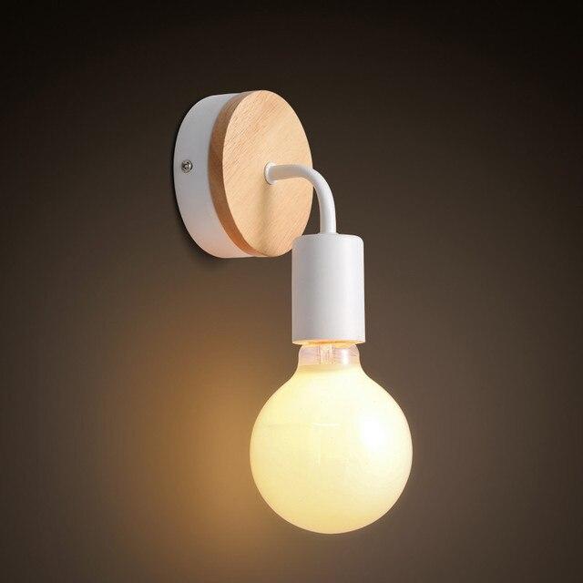 Scandinave Lampe De Mur En Bois Loft Nordique Luminaria Mur Applique