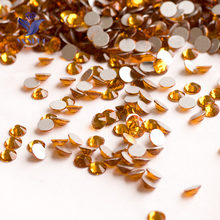 YANRUO  2058NoHF SS16 SS20 Topaz Rhinestone Applique Crystal Stones and Crystals  Diamond Embroidery Non Hot Fix Dresses c2720433ec34