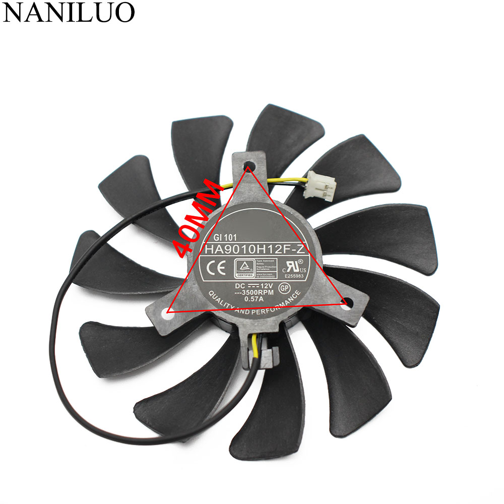 New 85mm HA9010H12F-Z DC 12V 0.57A 2Pin Cooler Fan For MSI Geforce GTX 1050Ti 4G OC GTX 1050 2G Graphic Card Cooling Fan