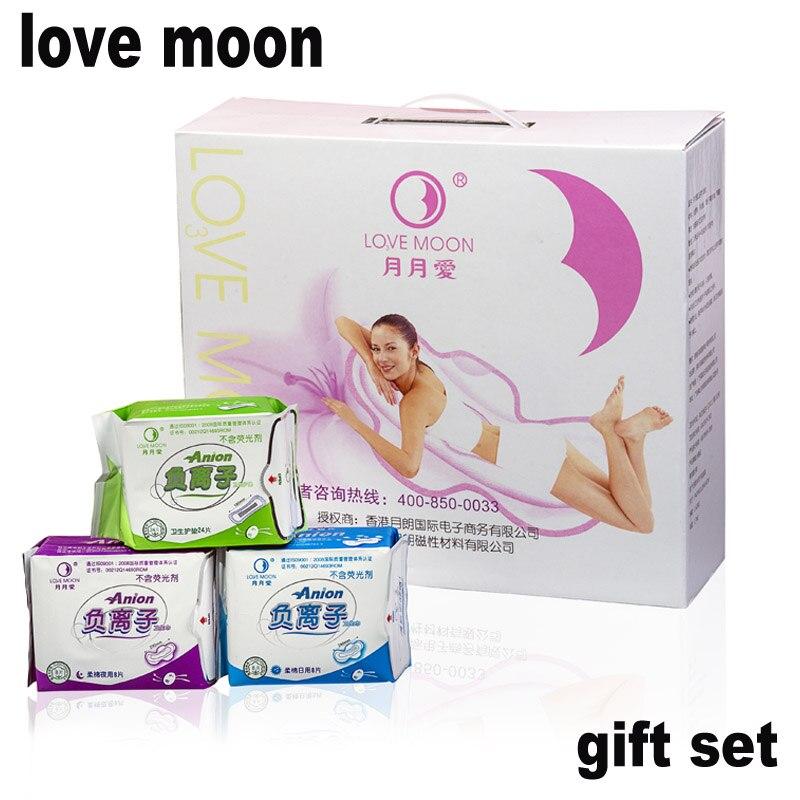 Anion Sanitary Napkin Pads Anion Love Moon Set Pads Women Strip Female Hygiene Love Moon Anion