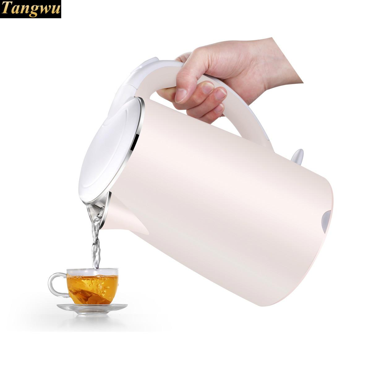 Electric heating kettle household 304 stainless steel fast automatic power - off cukyi stainless steel 1800w electric kettle household 2l safety auto off function quick heating red gold