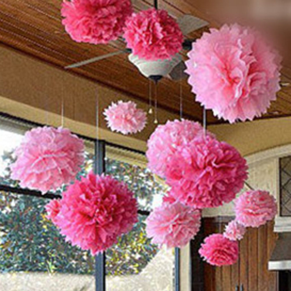 Pink paper flower balls acurnamedia pink paper flower balls mightylinksfo