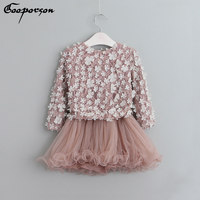 High Quality Spring Girls Dress Baby Girls Princess Long Sleeve Tutu Dress 3 7y Toddler Girl's Clothes Summer Clothes