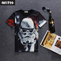 2016 New Arrivals Novel Men  Women 3d T Shirt Star Wars Leaves Space Character Plaid Alien Print Camiseta Hombre WITH YZ783