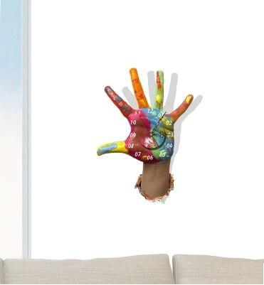 3D Wall Stickers Cartoon Childrenu0027s Room Bedroom Living Room Wall Clock  Silent Clock Wall Clock Creative