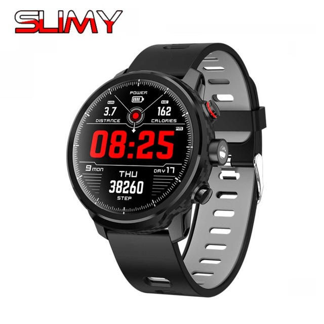 """Slimy L5 Smart Watch Standby for 100 Days 1.3"""" IP68 Waterproof Swimming Smartwatch Support Led Lighting Message Call Reminder"""