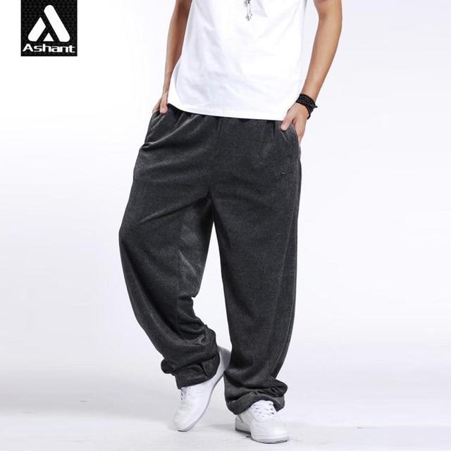 d11ea068a5e70 Ejercicio hombre Joggers Pantalones Más El Tamaño XXXL 3XL Hip Hop Bailarín  Piernas Anchas Pantalones Holgados