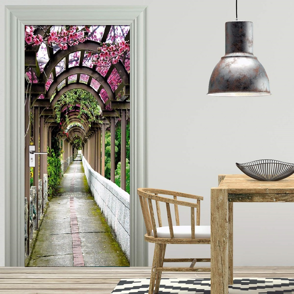 Free Shipping Home Decorators: Free Shipping HOT Aisle Flowers Door Wall Stickers DIY