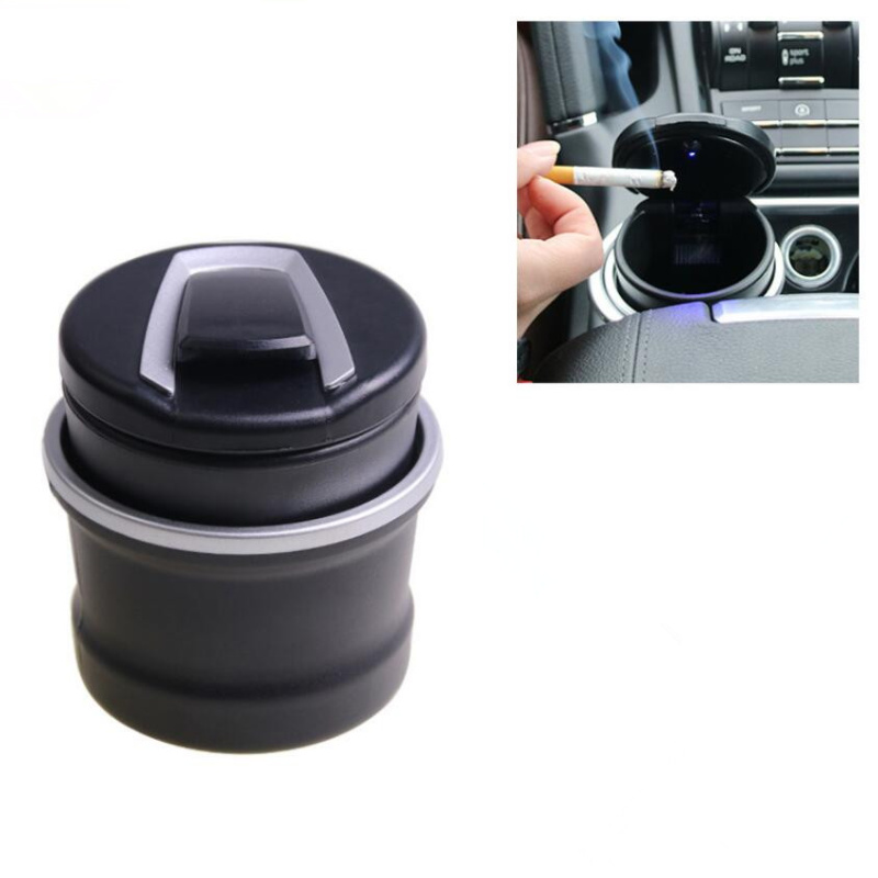 Car Led Ash Tray Ashtray Storage Cup For Hyundai IX35 IX45 Sonata Verna Solaris Elantra Tucson Mistra Car Styling Accessories xwsn custom car floor mat for hyundai solaris ix35 30 25 elantra mistra grand santafe accent veloster coupe genesis car foot mat