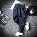 2016 Nova Casual Crianças Jeans Para Meninos Roupa das Crianças Menino calça jeans Da Moda Coreano Cintura Elástica calças de Brim Do Bebê Meninos Calças de Brim Hot