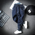 2016 Nueva Casual ropa Para Niños Jeans Para Niños Kids Boy Bebés de los pantalones Vaqueros Pantalones vaqueros de La Moda Coreana Pantalones Vaqueros de Cintura Elástica caliente