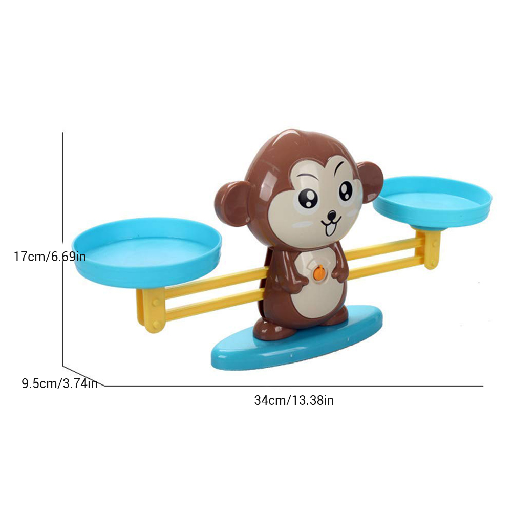 Image 4 - Monkey Digital Balance Scale Toy Early Learning Balance Children Enlightenment Digital Addition and Subtraction Math Scales Toys-in Math Toys from Toys & Hobbies