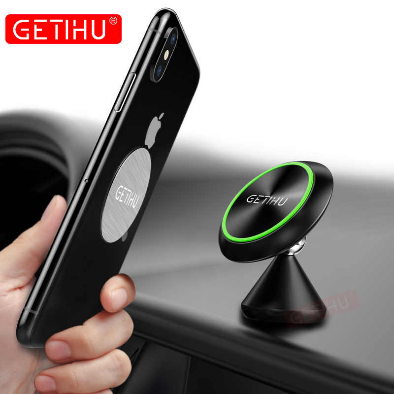 newest 01707 abff0 GETIHU Magnetic Car Phone Holder Mount Luminous For iPhone X Xs Max Samsung  Stand Air Vent GPS Mini Magnet Mobile Phone Holder