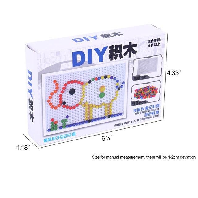 Kinder Spielzeug Puzzle Peg Board Mit 96 Mushroom Pegs Modell Kits Pädagogisches Gebäude Spielzeug für Kinder Geschenk Zufällige Farbe YH-1