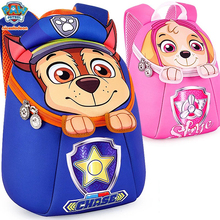 2019 Paw patrol Kids waterproof backpack School knapsack Action Figure Chase Skye badge boys kindergarten primary school mochila paw patrol dog cartoon plush backpack skye 3 7year chase small school bag soft harmless children action figures patrol backpack kindergarten multiple styles birthday gift outing mandatory with fruit with toys