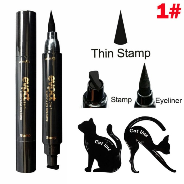 Evpct Long Lasting Waterproof Double Head Wing Shape Liquid Eyeliner