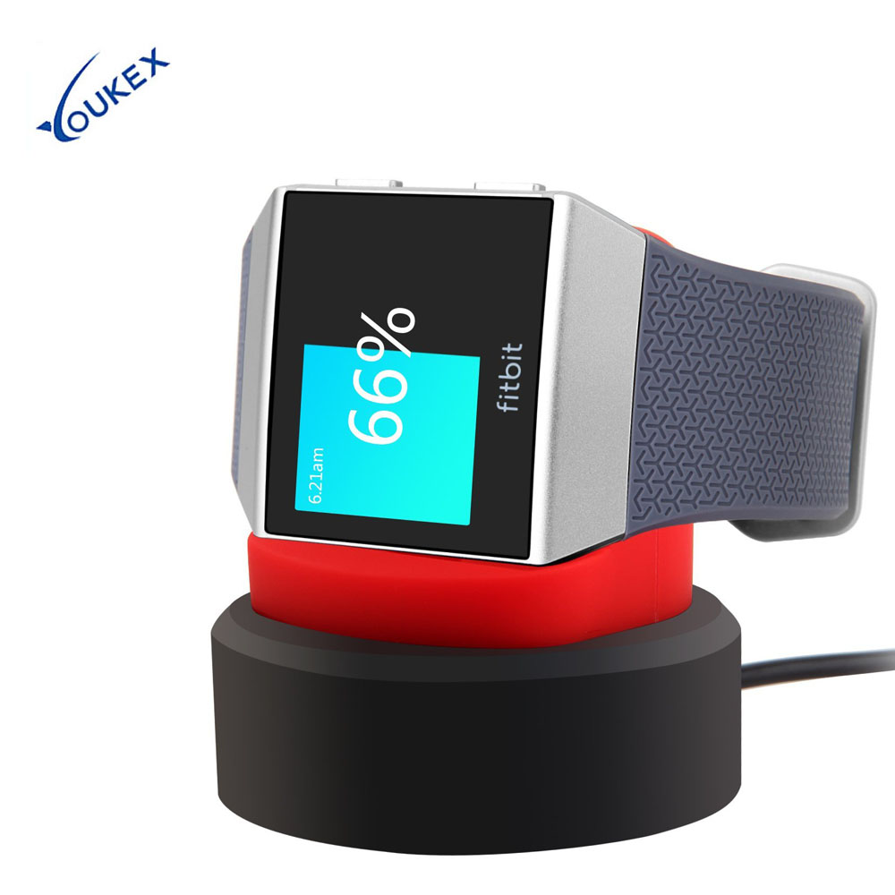 YOUKEX USB Charger for Fitbit Ionic Watch Charging Dock Station Stand Cradle Holder dual usb charging station charger dock for playstation 4 controller
