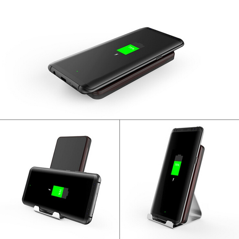 Qi Wireless Fast Charging Charger Dock Stand Holder For iPhone 7 7plus 8 X Samsung S8 S9 Note 5 Smartphone Charger