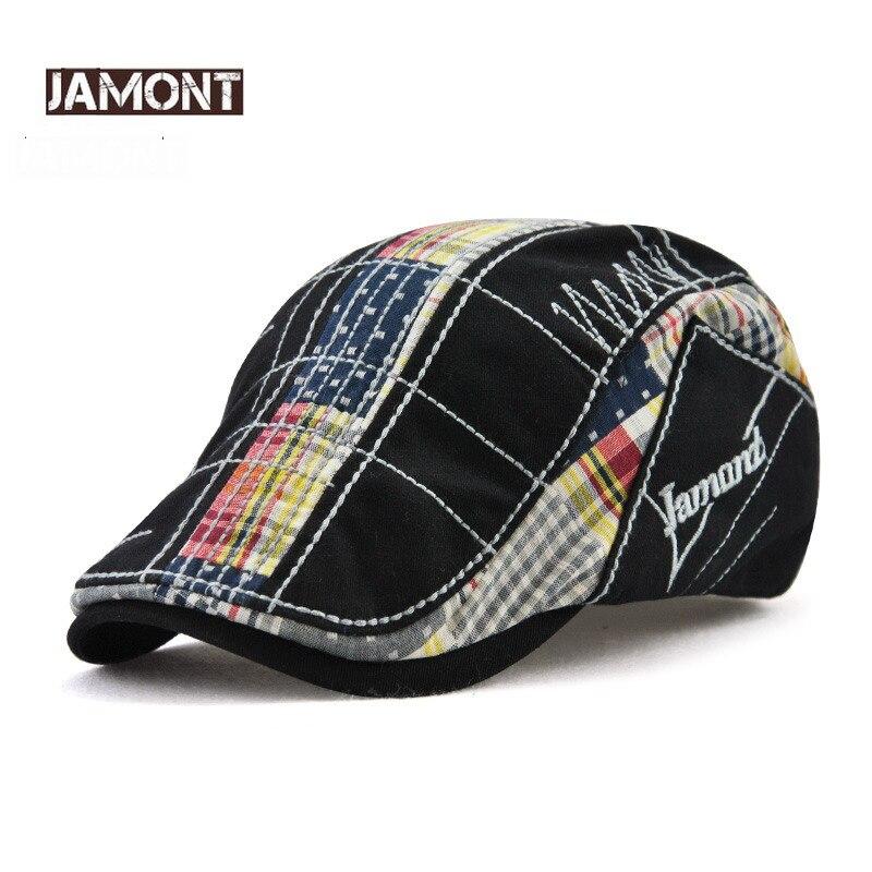 JAMONT Cotton Beret Custom Hats Embroidery-Hat Peaked-Caps British Vintage Summer Women