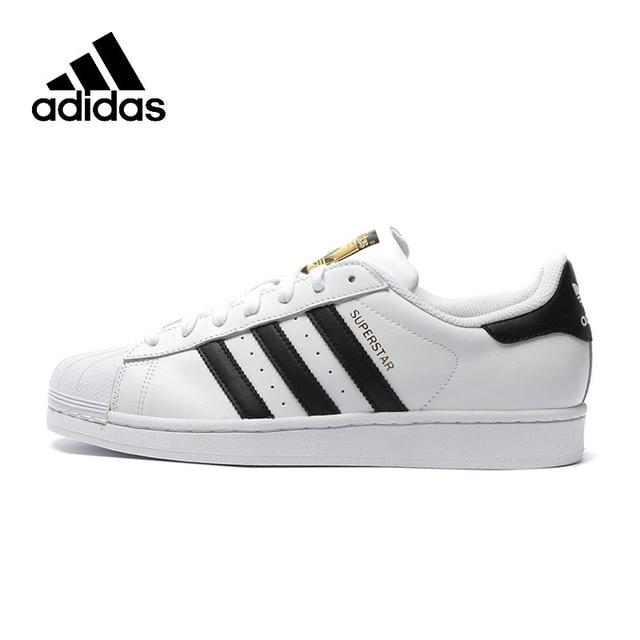 Adidas oficial superestrella trébol zapatos de skateboard para mujer y hombre zapatillas deportivas diseñador superior bajo C77124 tamaño de EUR U