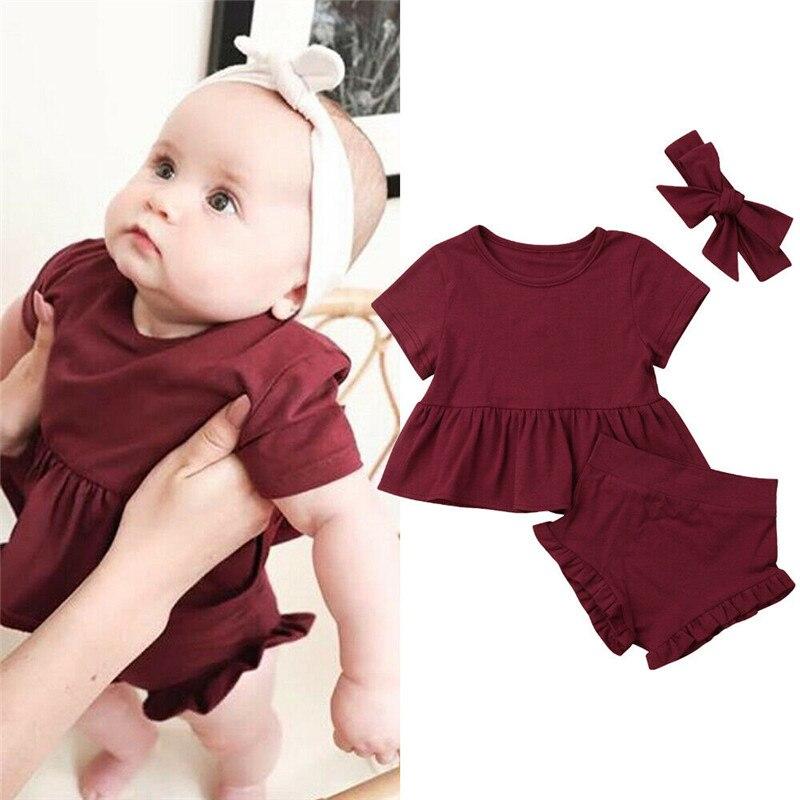 Newborn Infant Baby Girls Floral Tops Dress Harem Shorts Pants Summer Clothes US