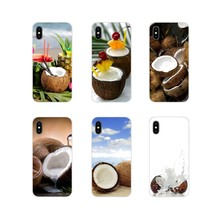 Phone Case Protector For Xiaomi Redmi 4A S2 Note 3 3S 4 4X 5 Plus 6 7 6A Pro Pocophone F1 New Fashion Fruit Coconut On The Beach(China)