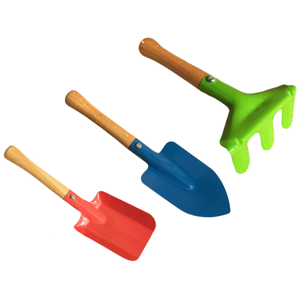 3Pcs Beach Toy Mini Garden Tools Children Funny Gardening Kit Beach Sand Shovels Toys For Kids