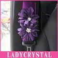 Ladycrystal 1 unids Auto Cubierta Del Cinturón de seguridad Cinturón de seguridad de Hombro Pad Lindo Púrpura Lirio Decoración de Interiores Accesorios Car Styling