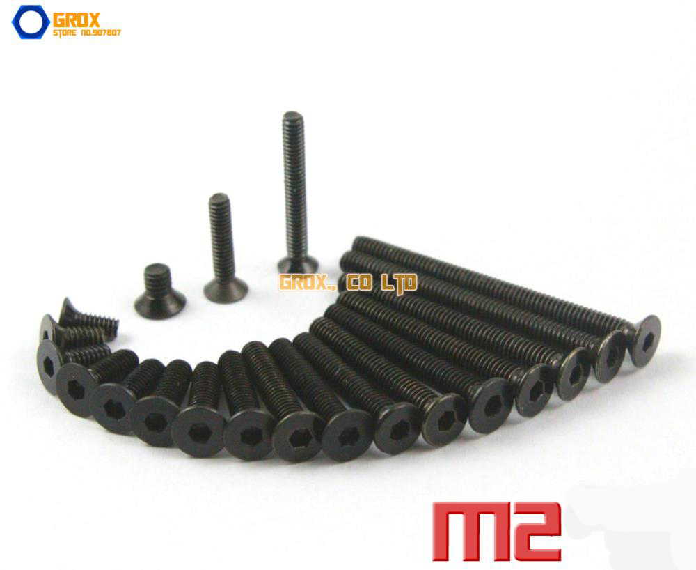 M2  Countersunk Socket Allen Bolt Screw 10.9 Grade Alloy Steel m3 hex socket pan head button head allen bolt screw 10 9 grade alloy steel