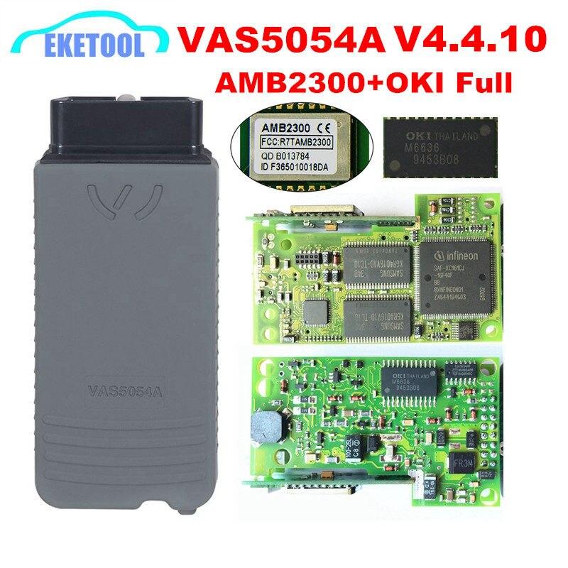 VAS5054A ODIS V4.4.10 D'origine AMB2300 Bluetooth OKI Plein Puce VAS 5054A Avec Buzzer UDS VAS5054 V4.4.10 Livraison Keygen Fissuré
