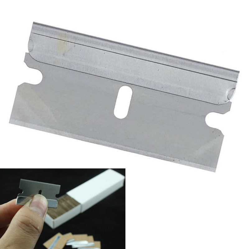 EHDIS Car Tools Wrap Scraper Squeegee Cutter Knife 2pcs 1 5 inch Razor Blade Blade Box Car Sticker Film Wrapping Glue Remover in Scraper from Automobiles Motorcycles