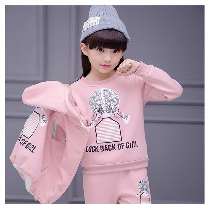 Baby Girl Sweater Kids Casual Warm Hooded Sleeveless Coat Long Sleeve O Neck Sweater Pullover Cotton