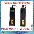 2 Em 1 Kit de Ferramentas De Fibra Óptica FTTH Mini Fibra Óptica Power Meter-70 ~ + 6dBm e 5 km 1 MW Visual Fault Locator Testador De Fibra Óptica