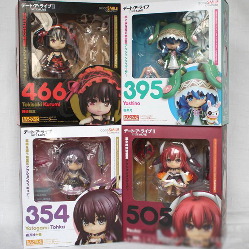 Original Box DATE A LIVE Yoshino Tokisaki Kurumi Yotogami Tohka Itsuka Kotori Action Figures Anime Model Cute Collection Toys japan anime date a live wallet tokisaki kurumi cosplay wallets coin card women men bifold purse