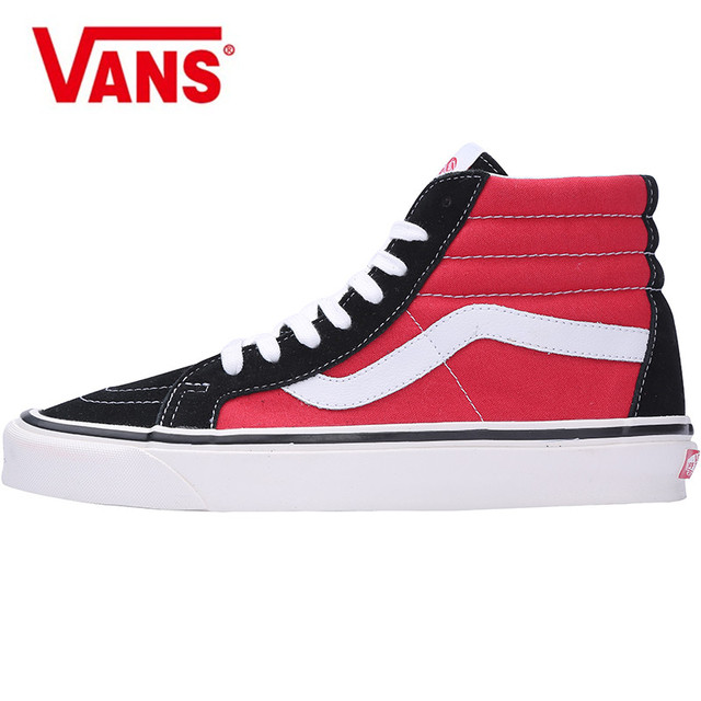 d0cbaf7a6942 VANS K8 HI Anaheim blue yellow high Black red high men and women shoes  lovers shoes VN0A38GFUBT Weight lifting shoes size 36-44