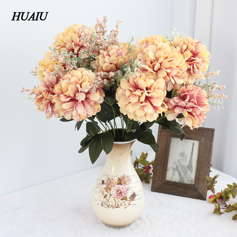 11 Bunch/Bouquet Fall Artificial Daisy flowers Chrysanthemum Fake ...