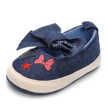 2019 Cute Shoes Baby Canvas Print Baby Shoes Moccasins Cute Bow Soft Sole Prewalkers Summer Toddler Infant Girls Shoes 2018
